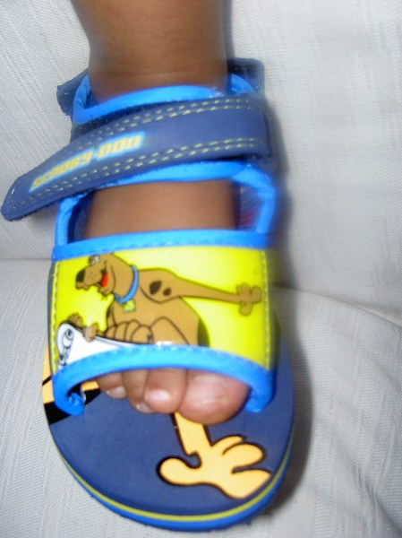 Mya's Scooby-Doo sandals