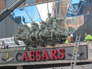 Caesars nightclub effigy